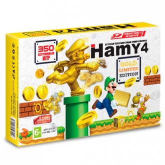 Игровая приставка Sega - Dendy Гами-4 (Hamy 4 SD 350-in-1) Модель 2018 г. Gold Mario-Edition - Max Pack - максимальная комплектация