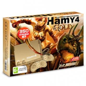Игровая приставка Sega - Dendy Гами-4 (Hamy 4 SD 350-in-1) Модель 2018 г. Gold - Max Pack - максимальная комплектация