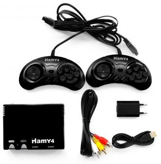 Игровая приставка Sega - Dendy Гами-4 (Hamy 4 SD 350-in-1) - Max Pack - максимальная комплектация; OEM, без коробки