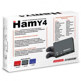 Sega - NES Hamy-4 (Hamy 4 SD 350-in-1) Console Year 2016 Classic - Base Pack - base package